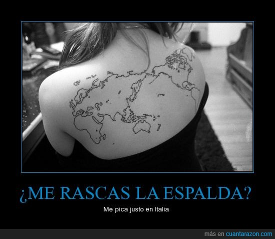 espalda,mapa,mundi,mundo,picor,rascar,tatuaje