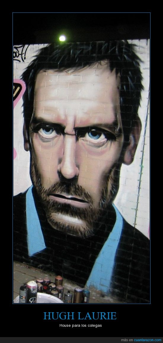 grafitti,house,hugh laurie,lupus,pintura