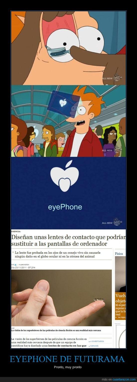 eyephone,Fry,Futurama,internet,lentes,pantalla