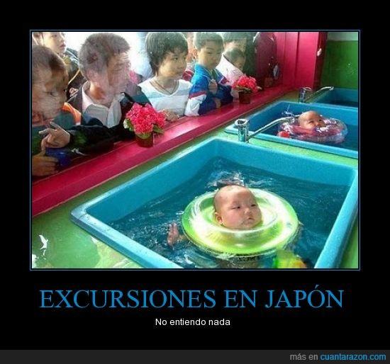 agua,bebes,japoneses,salvavidas