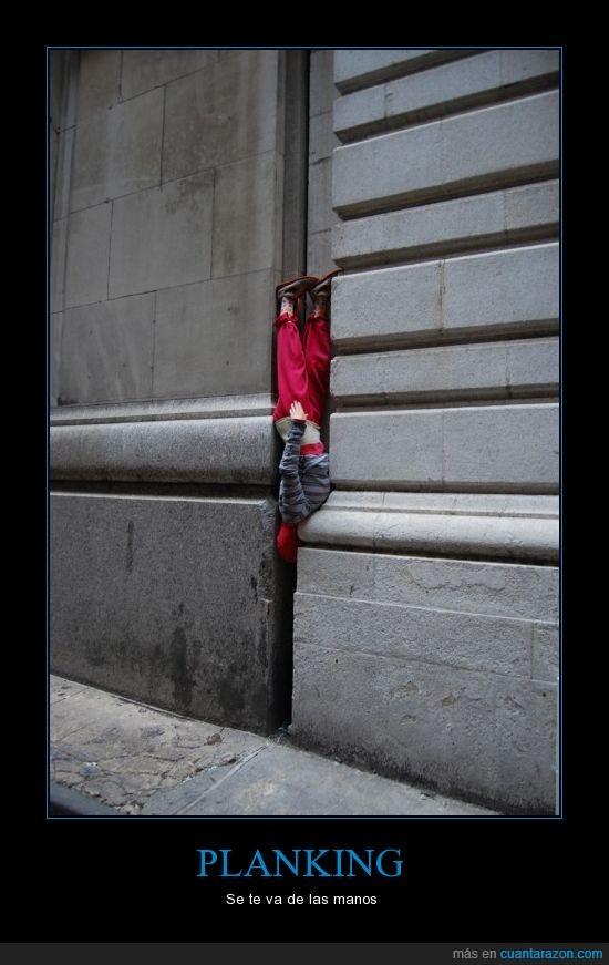 espacio,pared,planking