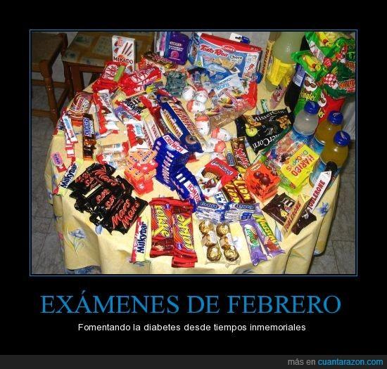 chocolate,comida,diabetes,estudio,examenes,febrero