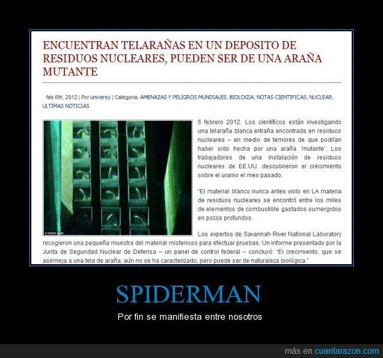 araña,poderes,radioactivo,spiderman