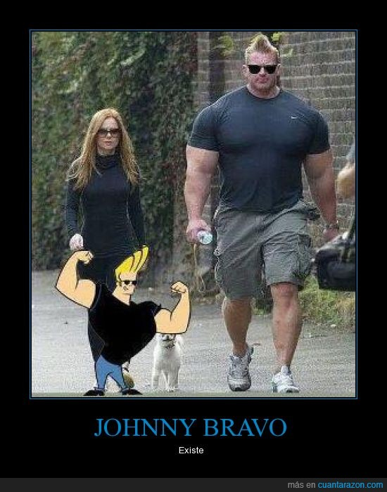 existe,johnny bravo,músculos,real