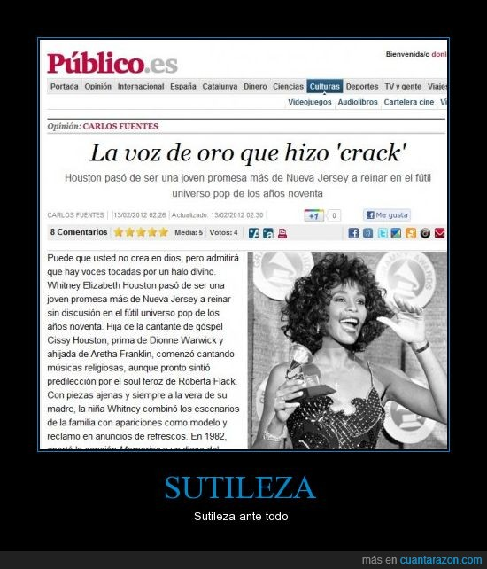 crack,doble sentido,Público,Whitney Houston