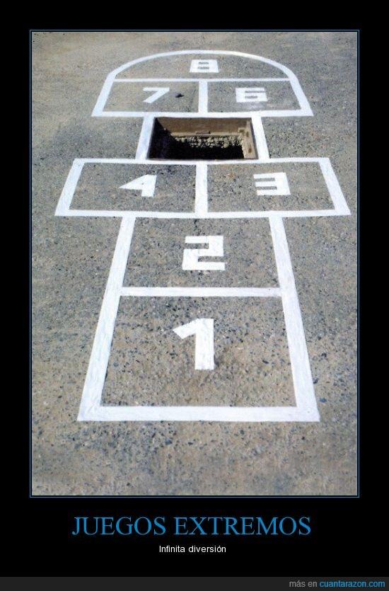 agujero,arte urbano,charranca,extremo,juegos,street art,suelo