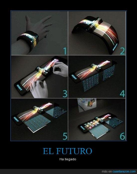 futuro,moderno,movil,pantalla,pulsera,teclado