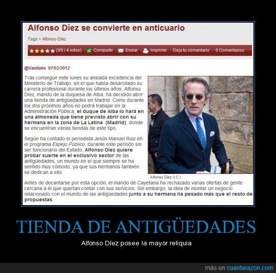 Alfonso,antiguedades,diez,duquesa de alba,tienda