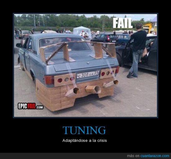 cartón,coche,crisis,escape,fail,tubo,tuning