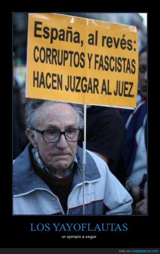 ancianos,cartel,juez,justicia,perroflautas,yayoflautas
