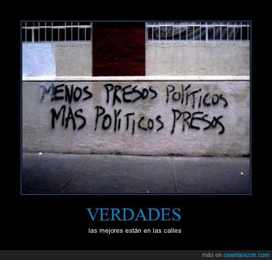 calles,más,menos,políticos,presos,verdad