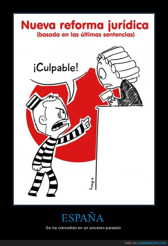 España,juez,preso,universo paralelo