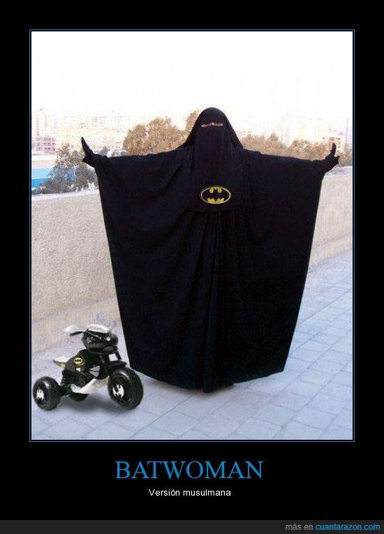 batman,batwoman,musulmana,triciclo,versión
