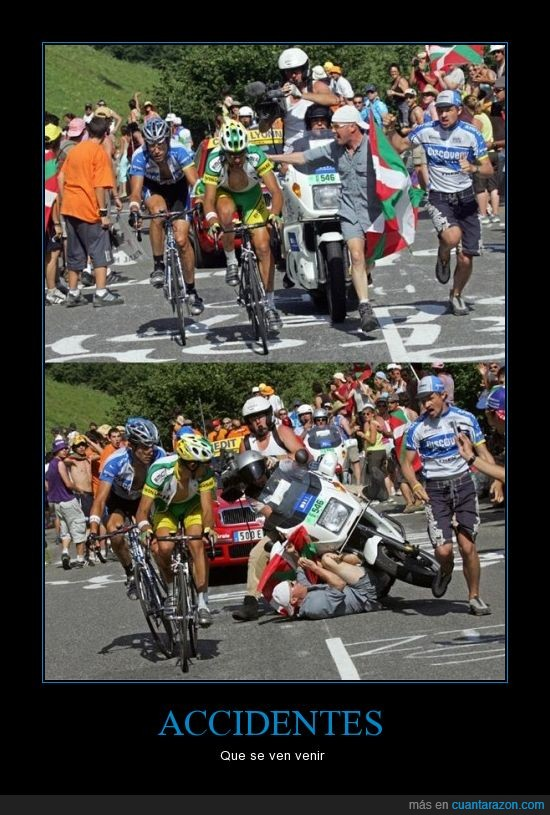 accidente,aficionado,Ciclismo,moto
