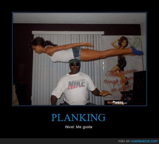 cabeza,chica,encima,equilibrio,estirada,negro,planking