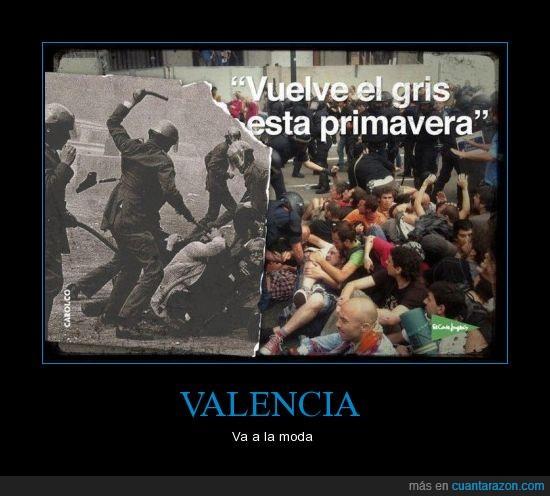 concentración,el enemigo,estudiantes,golpes,gris,hostias,ies lluís vives,menores,policia,porras,valencia