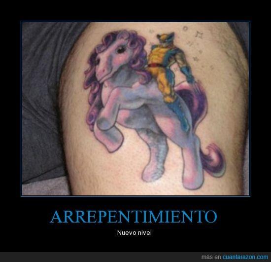 fumada,lobezno,mi pequeño pony,psicotrópicos,tatuaje,xmen