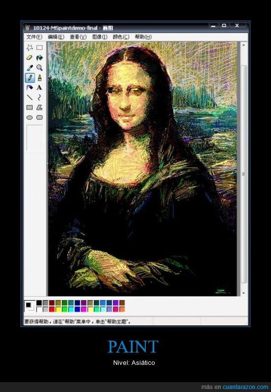asiático,color,Mona Lisa,Paint,pintar,quién quiere photoshop
