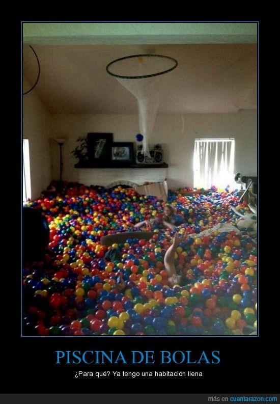 bolas,habitación,pelotas,piscina