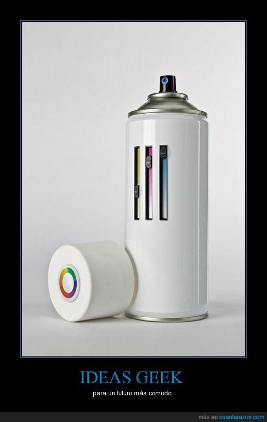 cmyk,colores,futuro,geek,lata,pintura