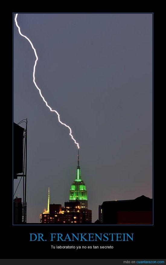 antena,empire state building,laboratorio,momento exacto,nueva york,rayo