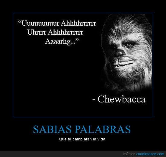 chewbacca,filósofo,me he emocionado,star wars