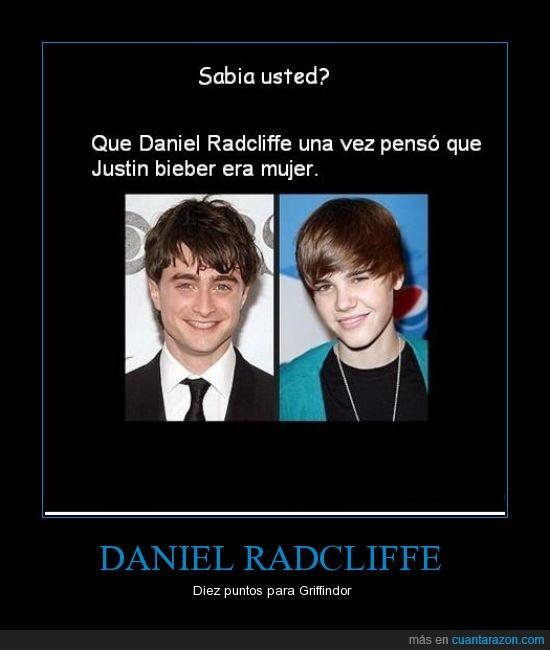 DANIEL RADCLIFFE,harry poter,justin bieber mujer