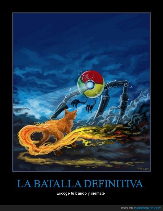 batalla,chrome,firefox,navegadores