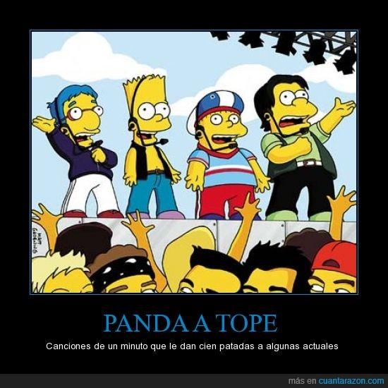 Canciones,Los simpsons,Panda a tope