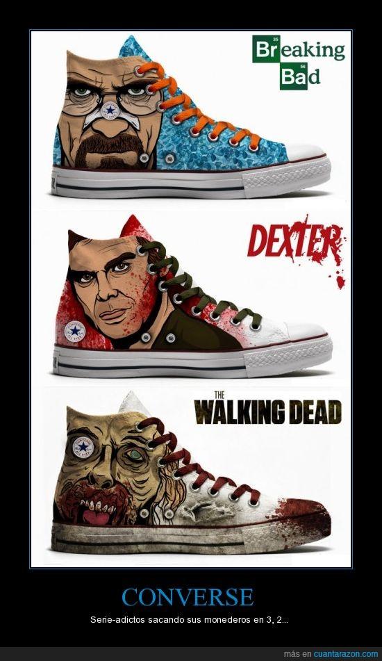 bambas,Breaking Bad,Converse,deportivas,Dexter,series,tenis,The Walking Dead,zapatilla