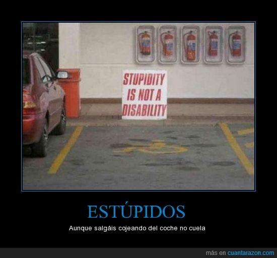 aparcar,estupidez,invalido,parking