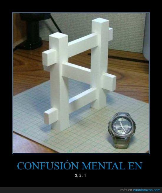 blaco,confusión,cuadro,ilusión,Mental,óptica,palos,reloj