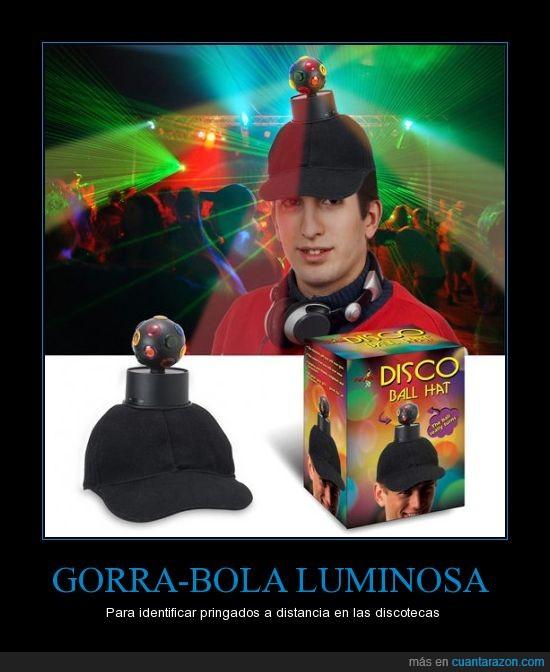 bola,de,discoteca,eso da cancer fijo,fiesta,Gorro,luz