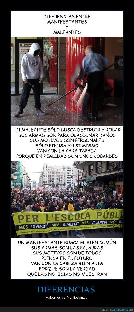 contra maleantes,manifestación,manifestantes,noticias,reflexión
