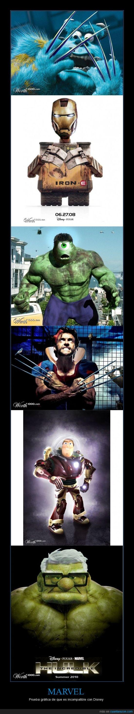 Disney,evolución,heroes,hulk,Marvel