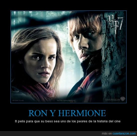 beso,harry potter,hermione,ron