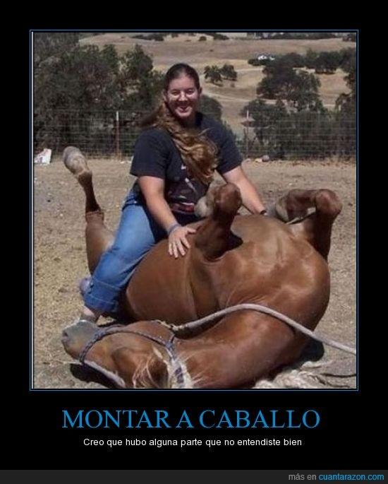caballo,encima,gorda,montar,revés