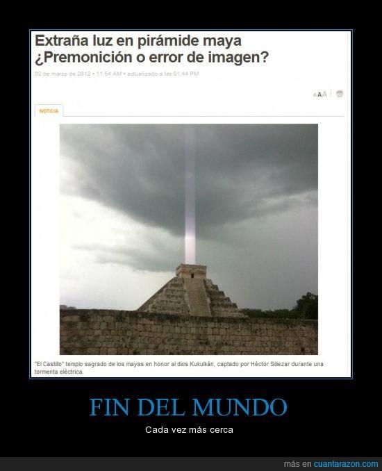 2012,fin del mundo,luz,mayas,pirámide,profecía