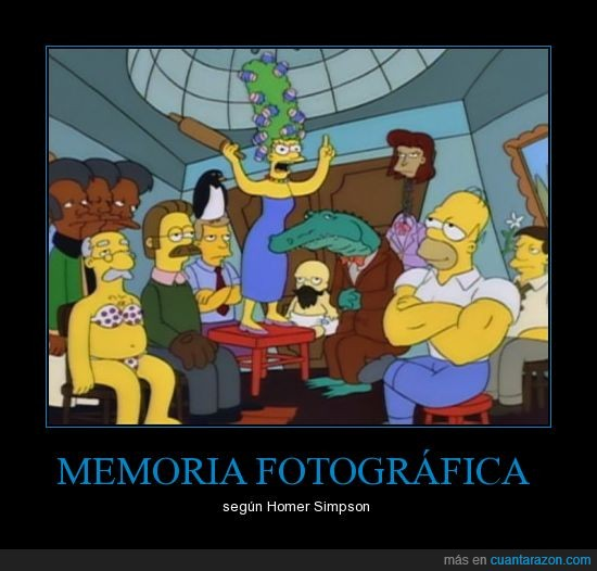 fotográfica,homer,marge,memoria,simpsons