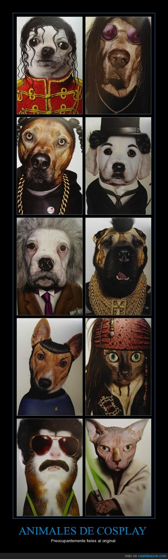 animal,borat,charles chaplin,einstein,famoso,gato,jack sparrow,ma,michael jackson,ozzy,perro,snoop dog,spock,yoda
