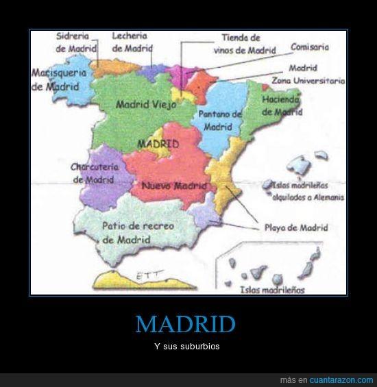 comunidades autónomas,españa,madrid,mapa,suburbios