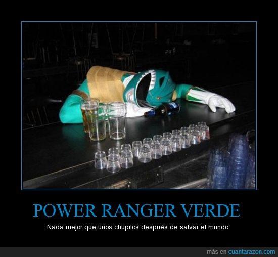 alcohol,borracho,los otros power rangers no le quieren,power,ranger,verde