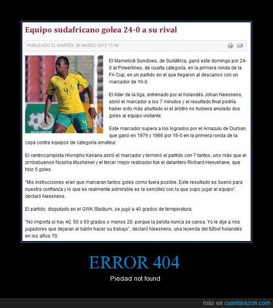 0,24,abusivos,fútbol,goleada,goles,lástima,palizón,sudafrica