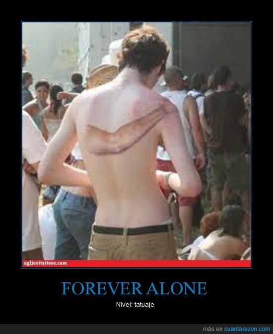 brazo,forever alone,tatuaje
