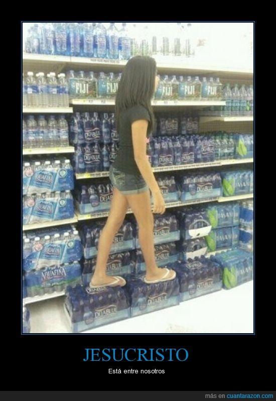 agua,caminar,es la elegida,ha vuelto,jesus,mujer,sobre