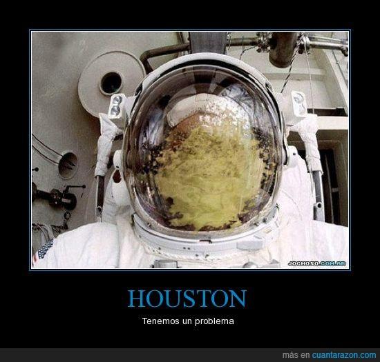 astronauta,casco,dentro,houston,potada,problema,vomito