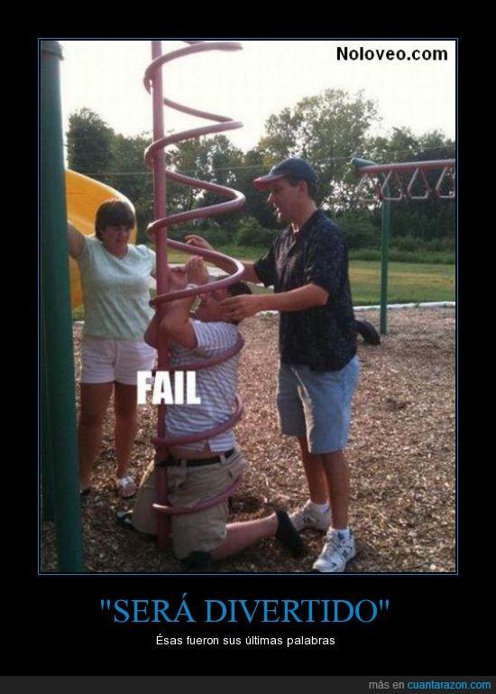 columpio,fail,hijo,padre,parque,tubo