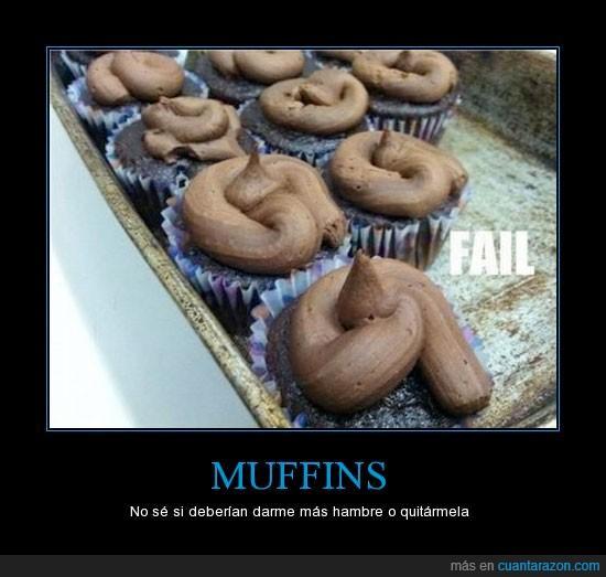 asco,chocolate,fail,madalena,mierdam truño,muffin,ñam,nordo,pastel