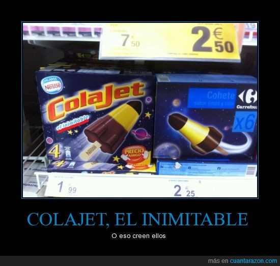 Carrefour,Colajet,copia,helado,troll