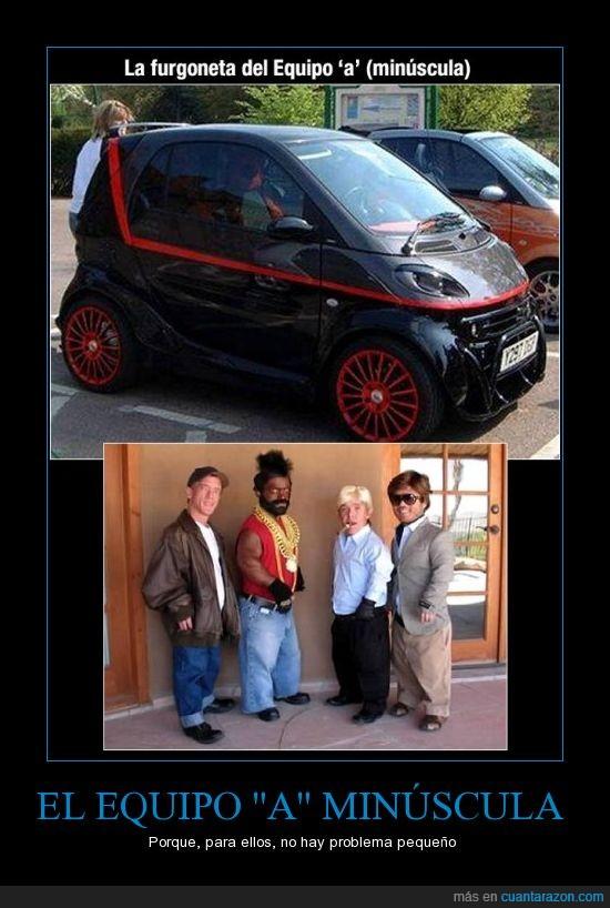 coche,enanos,equipo a,furgoneta